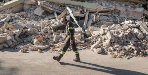 Italy: demolition operation in Amatrice
